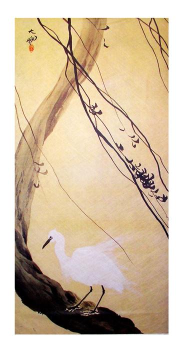 【窓飾り】横山大観「白鷺」