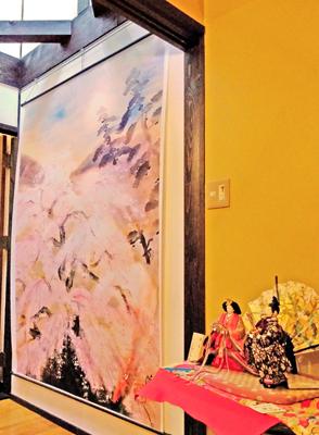 冨田溪仙の祇園夜桜図や浮世絵