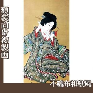 渓斎英泉「化粧を直す美人図」【複製画:不織布和紙風】