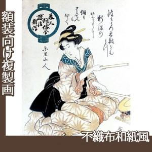 歌川広重「美人風俗合 越後新潟」【複製画:不織布和紙風】