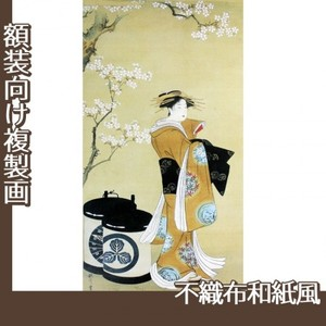 歌川豊春「桜下遊女図」【複製画:不織布和紙風】