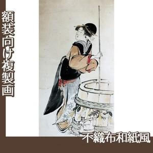 歌川豊国「美人若水汲み(部分)」【複製画:不織布和紙風】