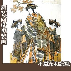 勝川 春章「初代中村里好」【複製画:不織布和紙風】