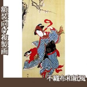 勝川 春章「春駒図」【複製画:不織布和紙風】