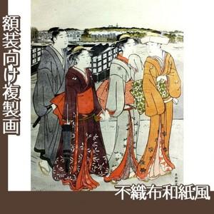 勝川春潮「三囲詣1」【複製画:不織布和紙風】