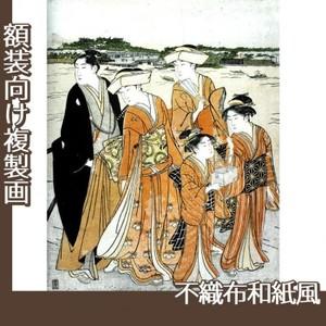 勝川春潮「三囲詣2」【複製画:不織布和紙風】