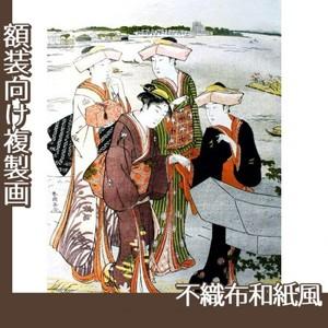 勝川春潮「三囲詣3」【複製画:不織布和紙風】