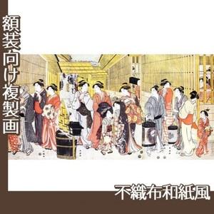 勝川春潮「新吉原江戸町の図」【複製画:不織布和紙風】