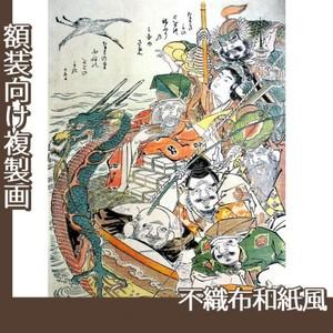 勝川春朗「七福神」【複製画:不織布和紙風】
