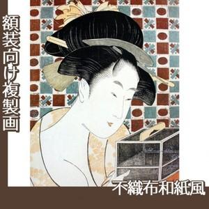 喜多川歌麿「虫籠」【複製画:不織布和紙風】
