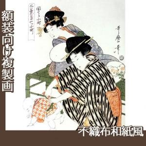 喜多川歌麿「二葉草七小町 関でら小町」【複製画:不織布和紙風】