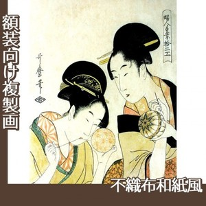 喜多川歌麿「婦人手業拾二工 手鞠作り」【複製画:不織布和紙風】