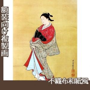 西川祐信「美人立姿図」【複製画:不織布和紙風】