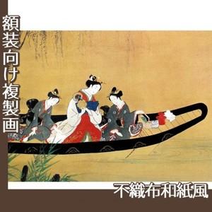 西村重長「舟中の遊女と禿図」【複製画:不織布和紙風】