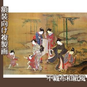 無款「見立竹林七賢図」【複製画:不織布和紙風】