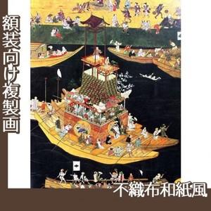 無款「津島神社祭礼図屏風 朝祭(部分2)」【複製画:不織布和紙風】