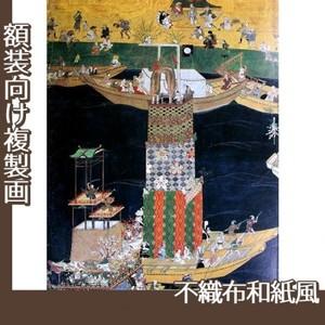 無款「津島神社祭礼図屏風 朝祭(部分3)」【複製画:不織布和紙風】
