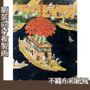 無款「津島神社祭礼図屏風 宵祭(部分)」【複製画:不織布和紙風】