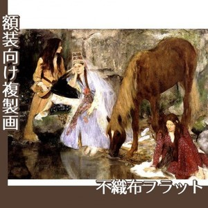 ドガ「バレエ「泉」のフィオルク嬢」【複製画:不織布フラット100g】