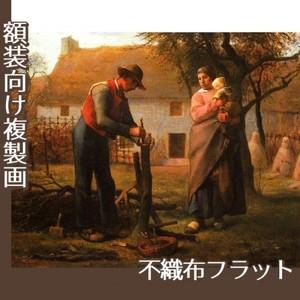 ミレー「接ぎ木をする人」【複製画:不織布フラット100g】