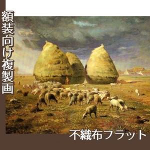 ミレー「秋:積み藁」【複製画:不織布フラット100g】