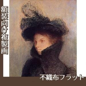 ルドン「マリー・ボトキン:アストラカンのコート」【複製画:不織布フラット100g】