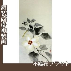 速水御舟「白芙蓉」【複製画:不織布フラット100g】
