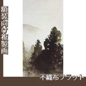 川合玉堂「冬の月1」【複製画:不織布フラット100g】