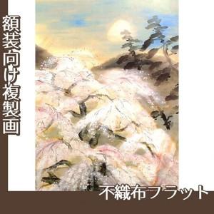 冨田溪仙「祇園夜桜図」【複製画:不織布フラット100g】