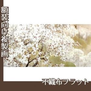 木島桜谷「小雨ふる吉野(左)」【複製画:不織布フラット100g】