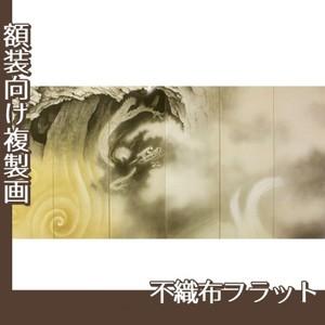横山大観「龍蛟躍四溟(左隻)」【複製画:不織布フラット100g】