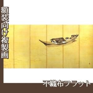 横山大観「江上舟遊(右隻)」【複製画:不織布フラット100g】