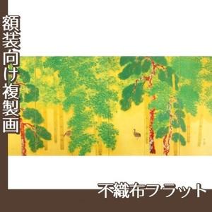 横山大観「柿紅葉(右隻)」【複製画:不織布フラット100g】