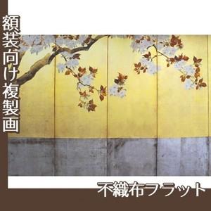酒井抱一「桜図屏風(左隻)」【複製画:不織布フラット100g】