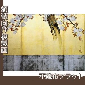 酒井抱一「桜図屏風(右隻)」【複製画:不織布フラット100g】
