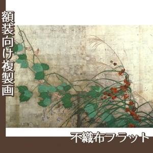 酒井抱一「夏秋草図屏風(左隻)」【複製画:不織布フラット100g】