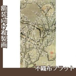 伊藤若冲「月梅図」【複製画:不織布フラット100g】