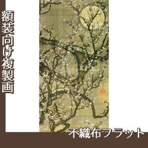 伊藤若冲「梅花晧月図」【複製画:不織布フラット100g】