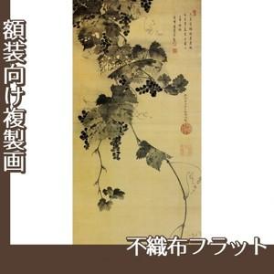 伊藤若冲「葡萄図」【複製画:不織布フラット100g】
