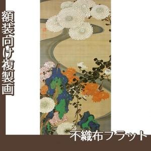 伊藤若冲「菊花流水図」【複製画:不織布フラット100g】