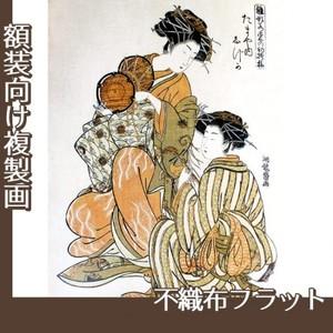 礒田湖龍斎「雛形若菜の初模様 たまや内しづか」【複製画:不織布フラット100g】