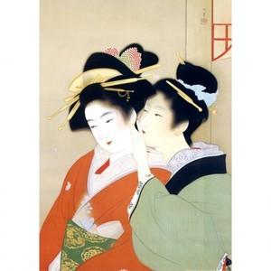 上村松園「春宵1」【ハンカチ・コースター・複製画】