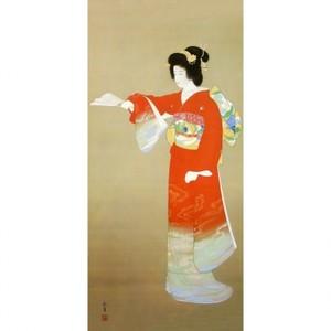 上村松園「序の舞」【額装向け複製画】