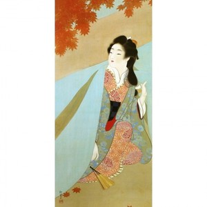 上村松園「紅葉可里図」【窓飾り】