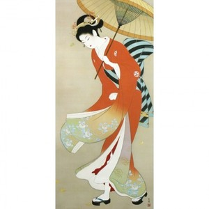 上村松園「志ぐれ」【額装向け複製画】