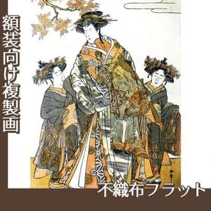 勝川春章「初代中村里好」【複製画:不織布フラット100g】