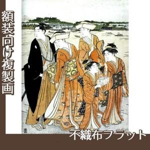 勝川春潮「三囲詣2」【複製画:不織布フラット100g】