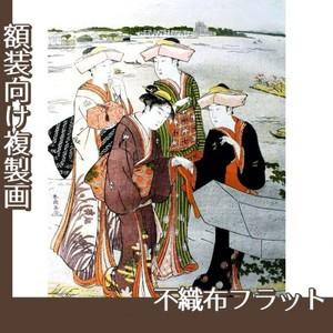 勝川春潮「三囲詣3」【複製画:不織布フラット100g】