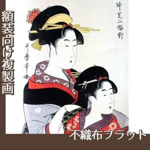 喜多川歌麿「竹芝二幅対」【複製画:不織布フラット100g】