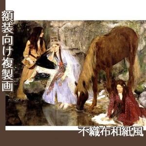 ドガ「バレエ「泉」のフィオルク嬢」【複製画:不織布和紙風】